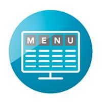 內建多種菜單版型與樣式